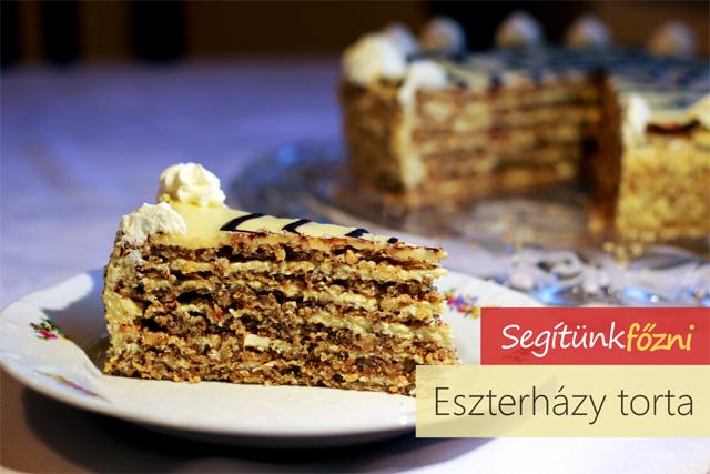 eszterházy torta receptek képekkel