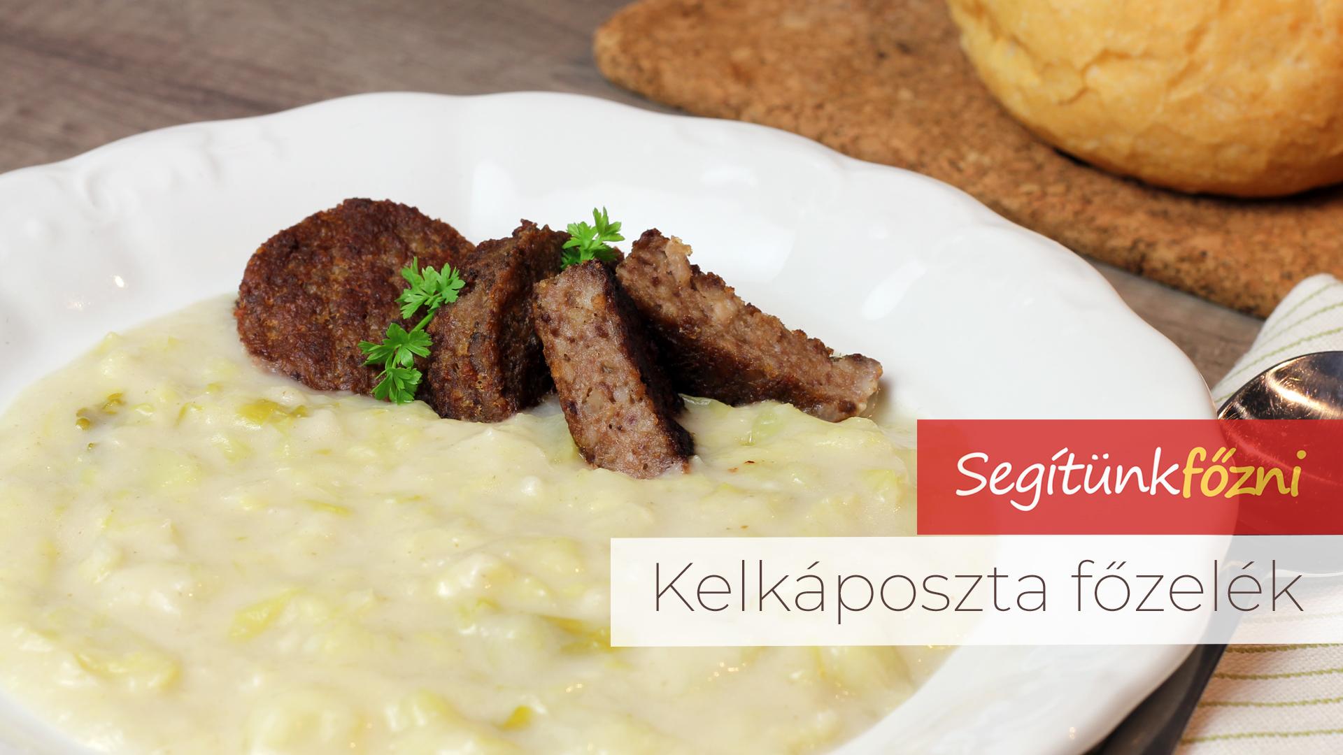 Kelkáposzta főzelék videó recept