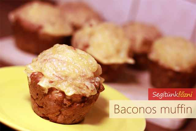 Baconos muffin