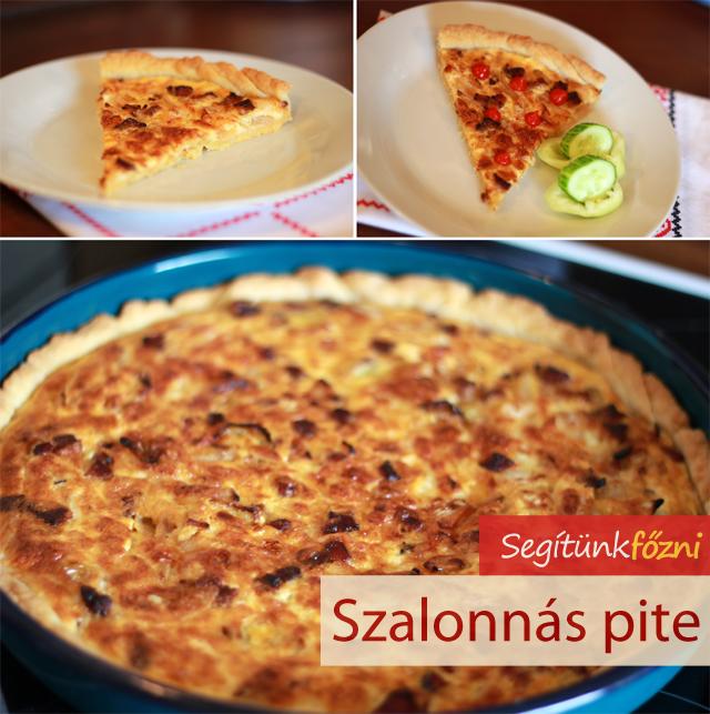 Szalonnás pite videó recept