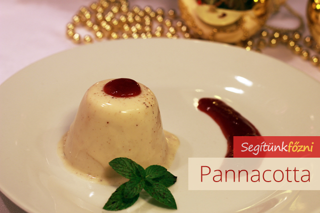 Karácsonyi pannacotta