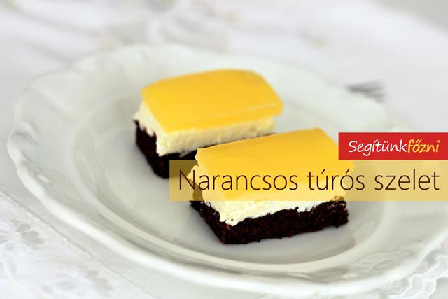 Túrós - narancsos sütemény (Fantás süti)