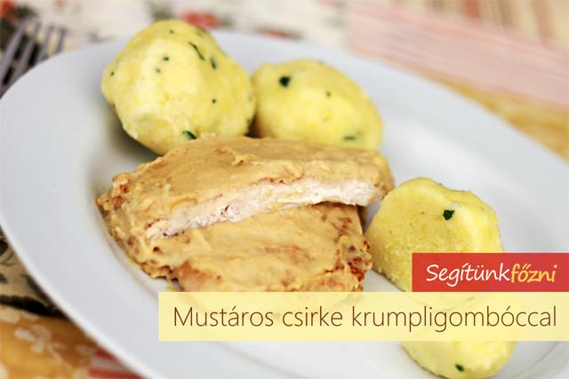 Mustáros csirkemell krumpligombóccal