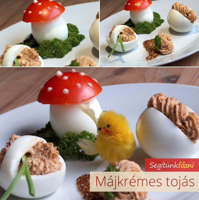 Májkrémes tojás